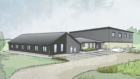 An artist's impression of the sports hall planned for the new sports hall at Reepham High School and