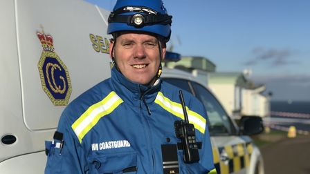 Pete Revell, Bacton Coastguard rescue officer. Picture: Neil Didsbury