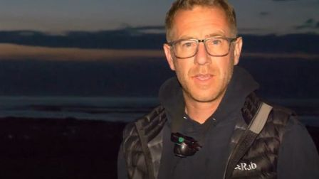 Chris Taylor, who captured the life in West Runton's rock pools using an ultraviolet light. Picture: