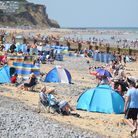 The busy Cromer beach on the hottest day of the summer so far. Picture: DENISE BRADLEY
