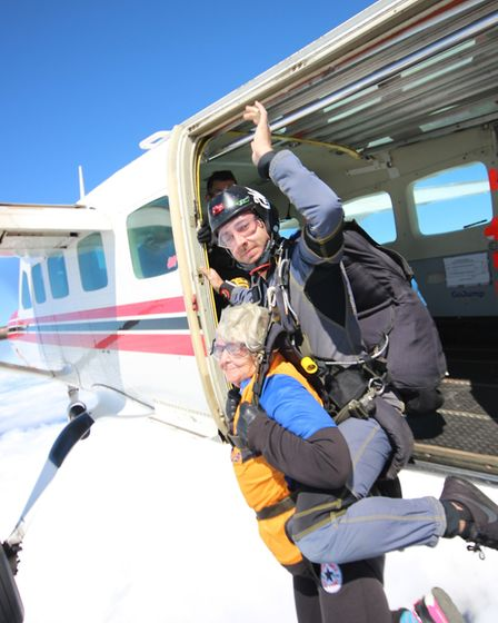 Tany Backburn, 69, from Eccles-on-Sea, has completed a skydive for Happisburgh Lifeboat Station. She