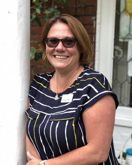 Alison Hilditch, manager of Overbury House. Staff at the Wroxham nursing home are planning to walk a