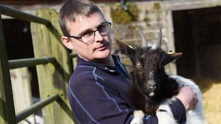 Mark Frosdick, animal control officer for North Norfolk District Council, with Delilah, one of the B