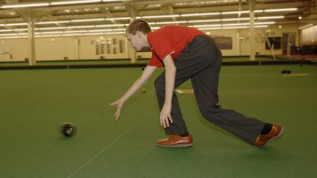 File photo of indoor bowls action at North Walsham Indoor Bowls Club at Rossis. The club has welcome
