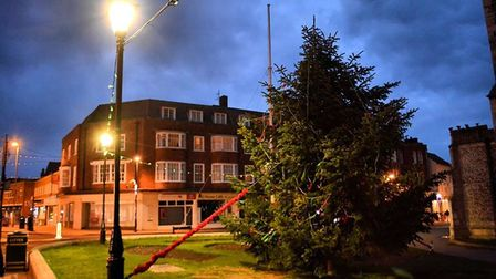 A Christmas tree in front of Cromer church. Thousnads will be spent on a campaign encouraging people