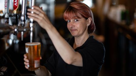 Manageress Liz Foster at the Kings Head pub in Cromer. Picture: Ollie Harrop/Supplied by Punch