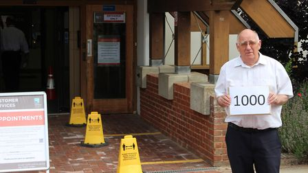 Bob White outside the North Norfolk District Council offices. Picture: Casey Cooper-Fiske