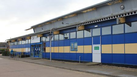 Sheringham leisure centre Splash, which was damaged in a storm in Febuary. No date has yet been set