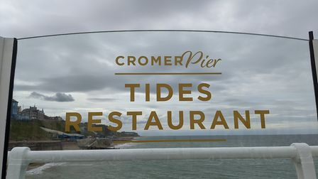 One of the new glass windbreaks outside Tides restaurant on Cromer Pier. Picture: North Norfolk Dist
