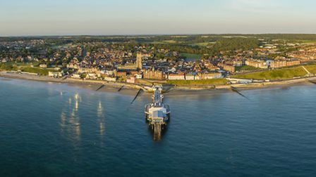 A drone image of Cromer by commerial drone pilot Joshua Paul Gardner. Picture: www.joshuapaulgardner