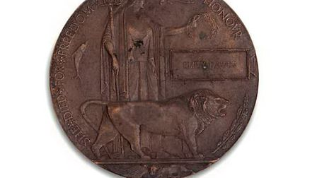 The World War One Spanish Flu memorial plaque, with an estimated value of £2,500-£3,500. Picture: Ne