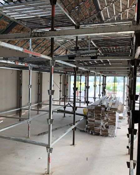 Work on the new secction of the Lord Nelson pub in Burnham Thorpe. Picture: Supplied by Holkham/Hunt