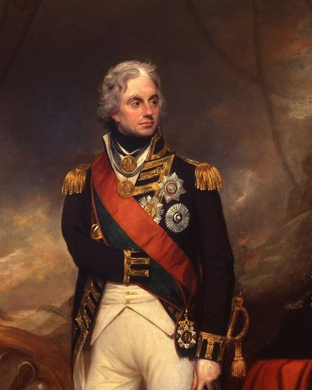 A painting of Admiral Lord Nelson from 1801 by William Beechey. Photo: Norfolk Museums Service