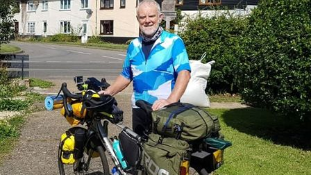 Peter Cavanagh, 67, of Lessingham, between Happisburgh and Waxham, will be cycling more than 650 mil