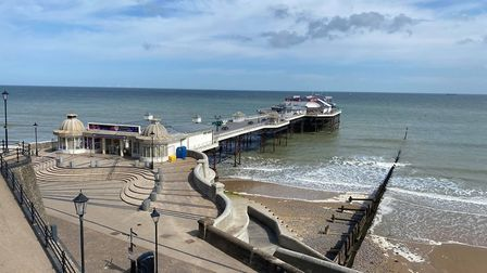 Cromer Pier has reopened following the lockdown. Picture: Abigail Nicholson