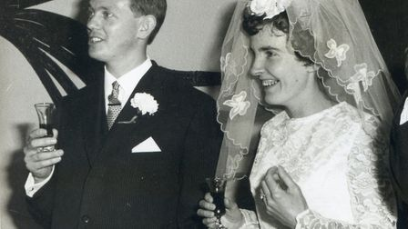 Ashley and Aileen Gray, at their actual wedding in 1967. Picture: Supplied by SLT/the Gray family