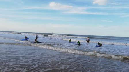 Young lifesafers have been training how to keep people safe at Mundesley. Picture: Mundesley Surf Li