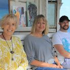 Artists Linda Robinson and Emma Verity and photographer Matt Coomber, who are part of the new Cromer