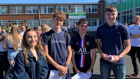 Pupils collecting their GCSE results at Broadland High School. Picture: Ormiston Academies Trust