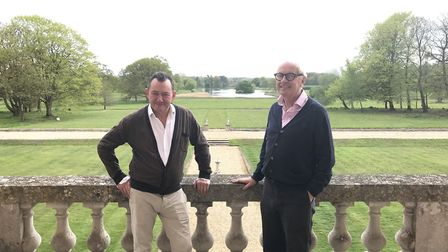 Wolterton Hall co-owners Keith Day, left, and Peter Sheppard. The estate hosted two open-air classic