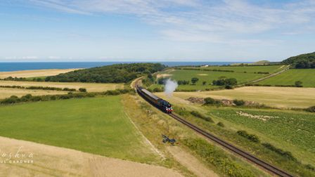 Commercial drone pilot Joshua Paul Gardner has captured the North Norfolk Railway in action. Picture