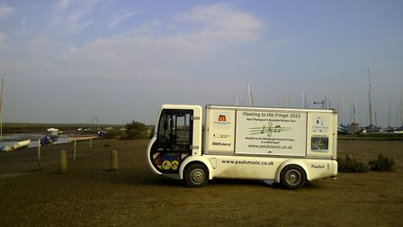 Sheringham musician Paul Thompson drove an electric milk float to Scotland on tour in 2015. The milk