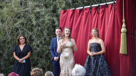 Young actors Tilda Fassih, Charlie Randall, Katie Thompson and Jodie Welle at the Sheringham Little