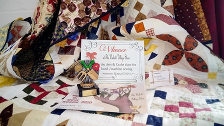 The winning quilt entry in the Walcott Village Show, made by Andrea Turner. Picture: David Mason