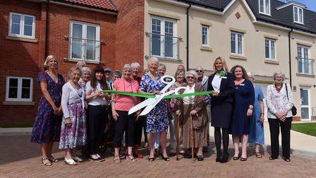 Dame Mary Peters opened the Louis Arthur Court retirement living development in North Walsham in 201