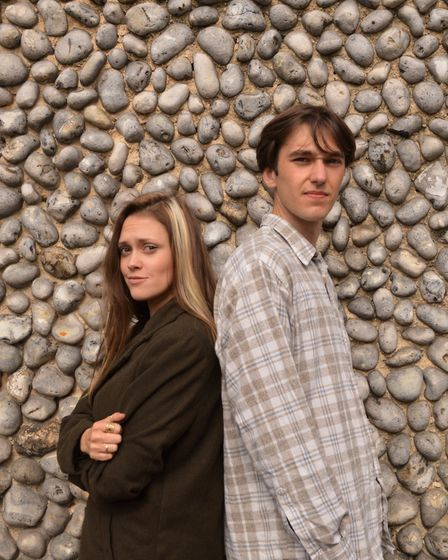 Megan Artherton and Sam Thompson prepare for their roles as Sophie and Jonah in Blink at Sheringham