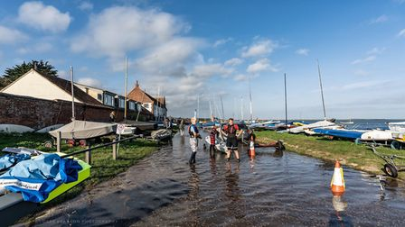 Mr Gatti, who has worked at the boathouse for the last five years said spring tides like this happen