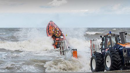 The RNLI's Sheringham-based inshore lifeboat The Oddfellows being launched. Picture: Chris Taylor