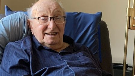 Lionel Rogers, of Holt, who has just turned 100. Picture: Stuart Anderson