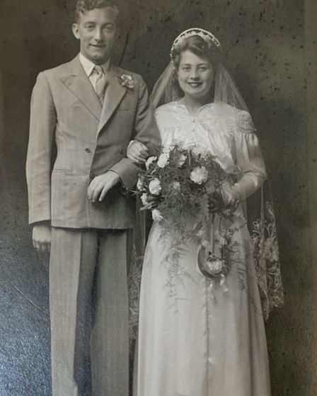 Lionel Rogers and his first wife Betty married in 1943. Picture: Supplied by Lionel Rogers