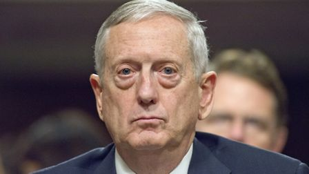 United States Marine Corps General James N. Mattis (retired) testifies before the US Senate Committe