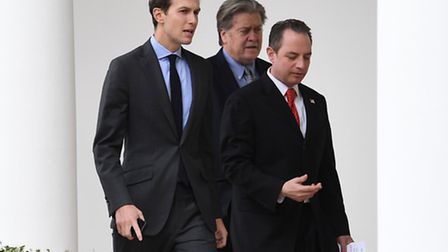 Jared Kushner, chief strategist Steve Bannon and chief of staff Reince Priebus