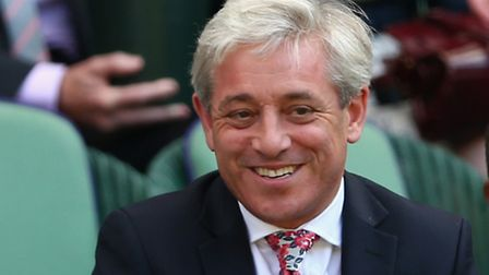 LONDON, ENGLAND - JULY 09: John Bercow attends day ten of the Wimbledon Lawn Tennis Championships a