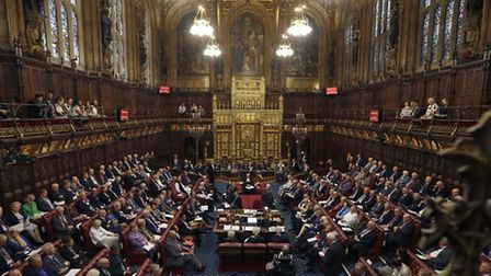 File photo dated 05/09/16 of the House of Lords chamber, as reports suggest that Theresa May has dro