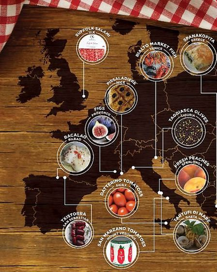 Josh Barrie creates a food map of Europe