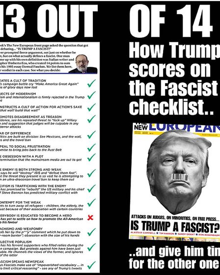 How does Trump score on the fascist checklist?