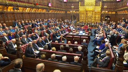 A packed House of Lords as peers push for guarantees over the rights of EU nationals living in the U