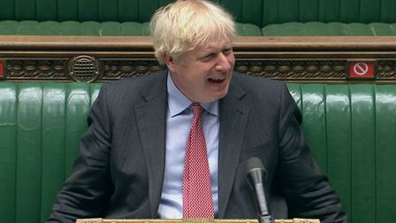 Prime Minister Boris Johnson during Prime Minister's Questions in the House of Commons, London.