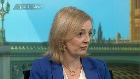 International trade secretary Liz Truss speaking on Politics Live