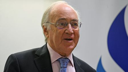 Lord Michael Howard during a Brexit and the Future conference at the BPP University in central Londo