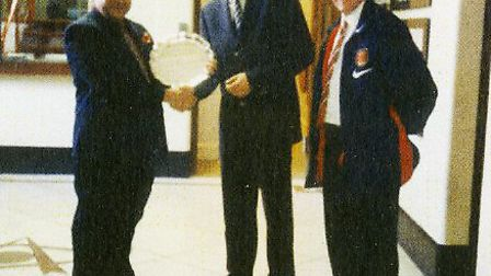 One of Brian Sadler's proudest moments was when he presented Dennis Bergkamp with the Norfolk Arsena