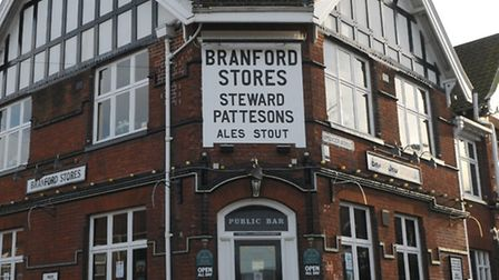 The Branford Arms. The former pub looks likely to make way for housing.