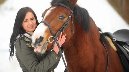 Owner Penelope Wood reunited with Boo at Thorpe Island from where the eighteen year old gelding made