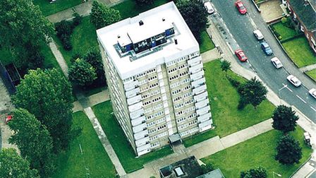 COMPASS, BURLEIGH AND ASHBOURNE TOWERS ON THE HEARTSEASE ESTATE.