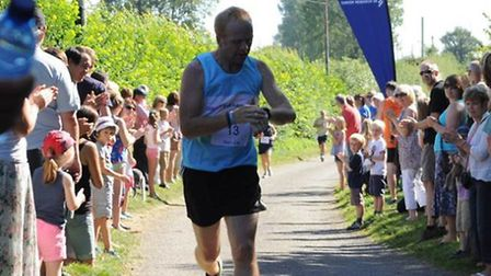 Kirk Wilson, who is running the London Marathon in memory of his late wife, Sara