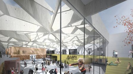 What the new community hub in Hellesdon could look like: This would be the courtyard interior. Submi